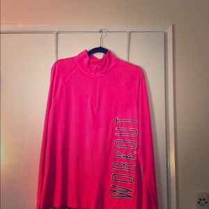 Bright pink workout sweater